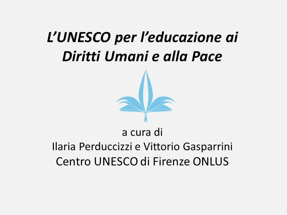L'UNESCO per l'educazione ai Diritti Umani e alla Pace