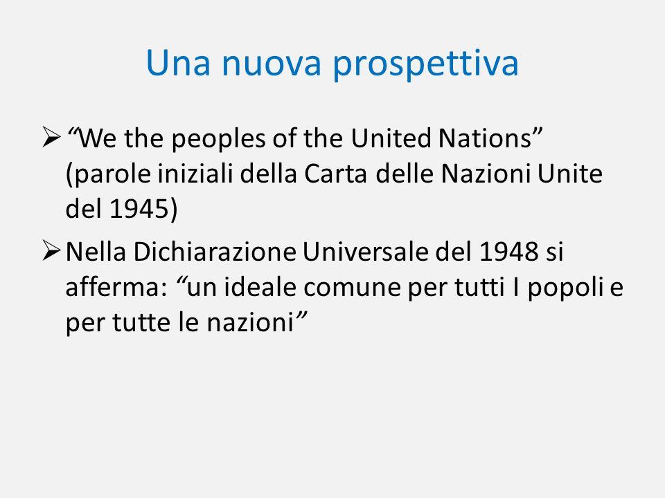 Una nuova prospettiva We the peoples of the United Nations (parole iniziali della Carta delle Nazioni Unite del 1945)
