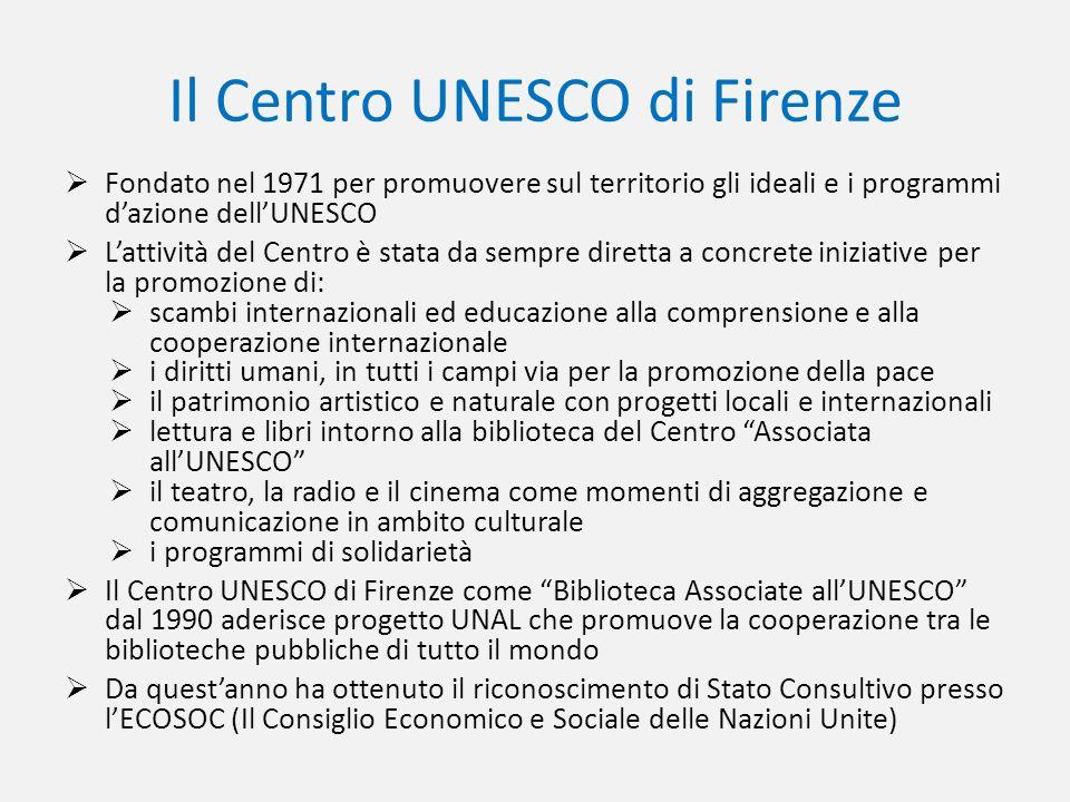 Il Centro UNESCO di Firenze