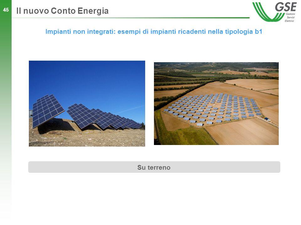 Il nuovo Conto Energia Impianti non integrati: esempi di impianti ricadenti nella tipologia b1.