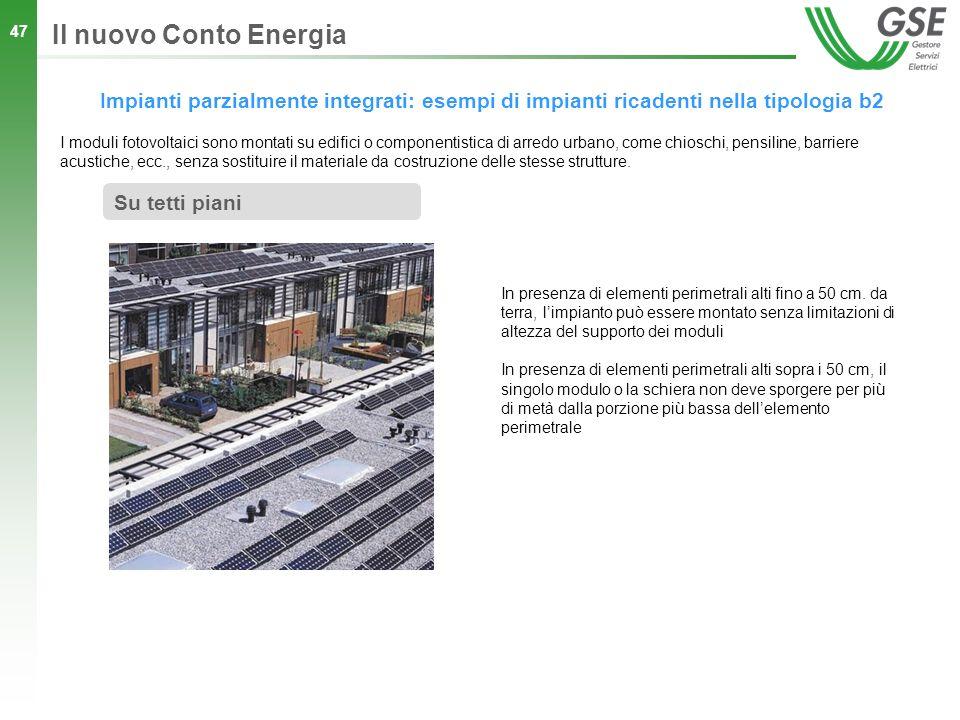 Il nuovo Conto Energia Impianti parzialmente integrati: esempi di impianti ricadenti nella tipologia b2.