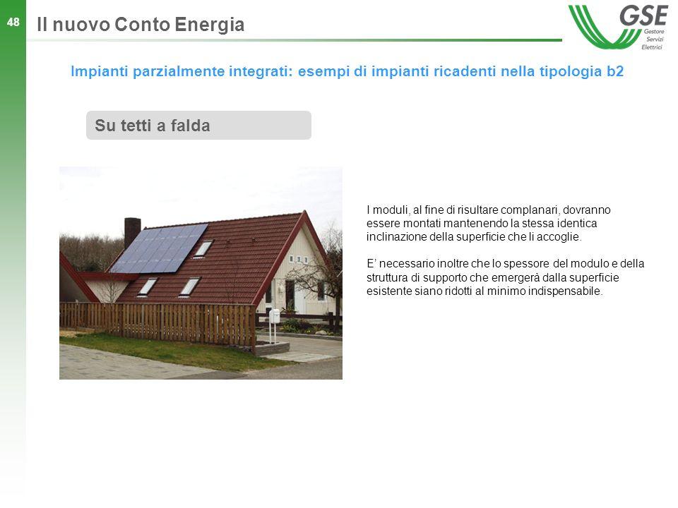 Il nuovo Conto Energia Su tetti a falda