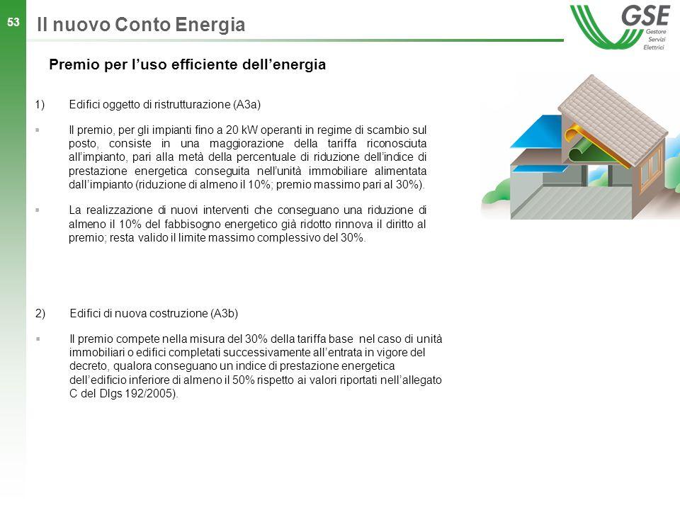 Il nuovo Conto Energia Premio per l'uso efficiente dell'energia