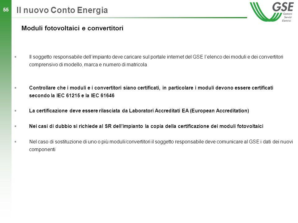 Il nuovo Conto Energia Moduli fotovoltaici e convertitori
