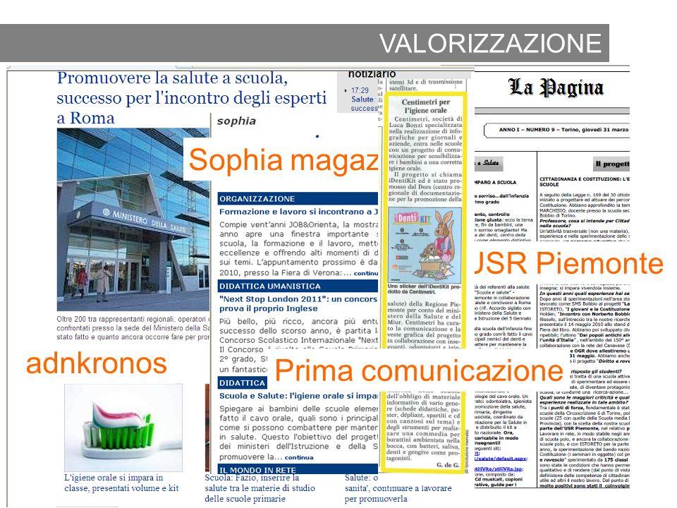 2010 Rassegna stampa Sophia magazine La pagina USR Piemonte adnkronos