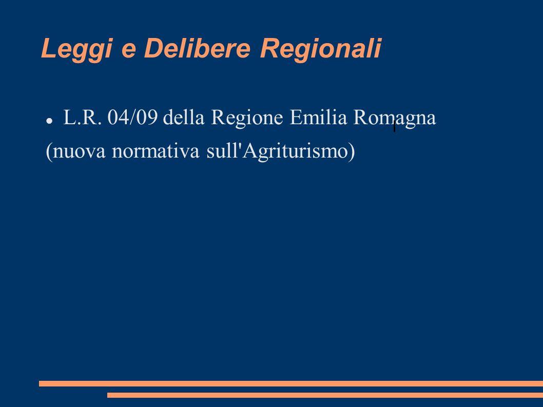 Leggi e Delibere Regionali