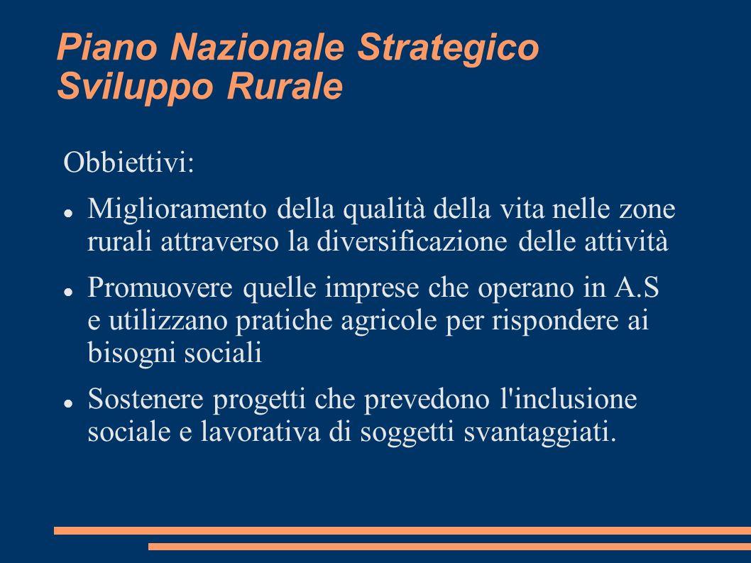 Piano Nazionale Strategico Sviluppo Rurale