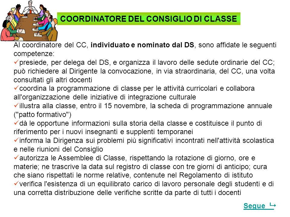 COORDINATORE DEL CONSIGLIO DI CLASSE