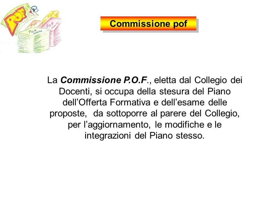 Commissione pof
