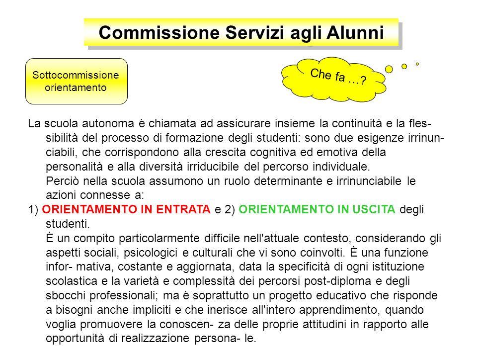 Commissione Servizi agli Alunni