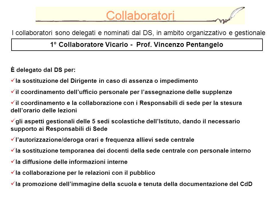 1° Collaboratore Vicario - Prof. Vincenzo Pentangelo