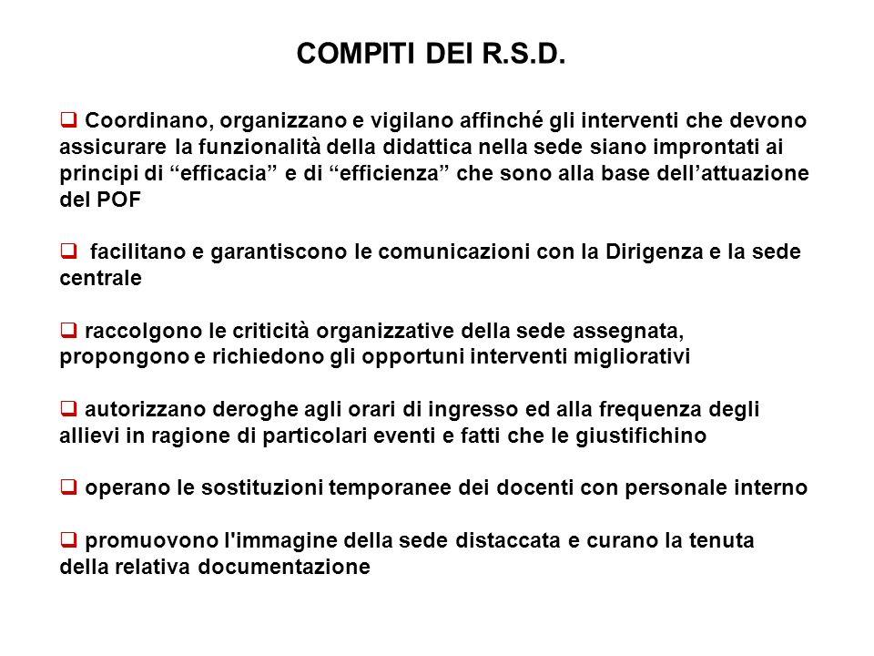 COMPITI DEI R.S.D.