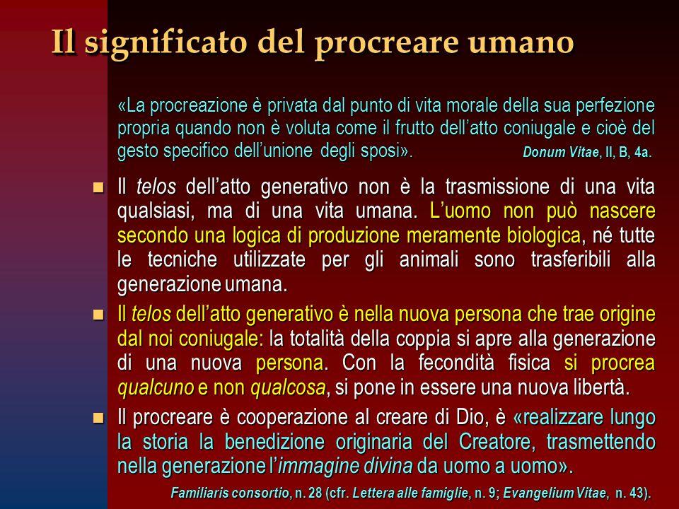 Il significato del procreare umano