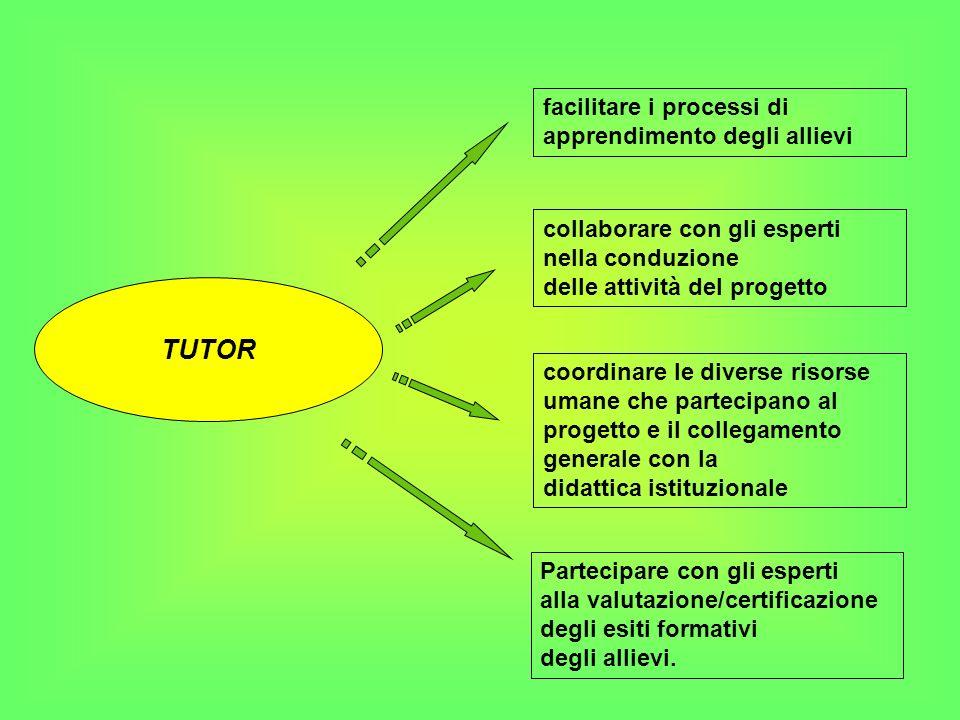 TUTOR facilitare i processi di apprendimento degli allievi