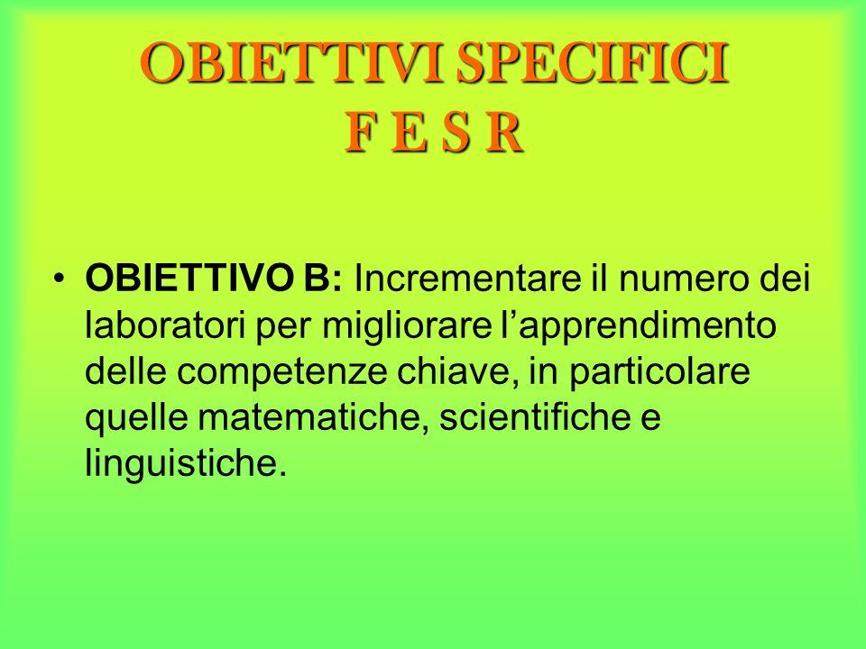 OBIETTIVI SPECIFICI F E S R