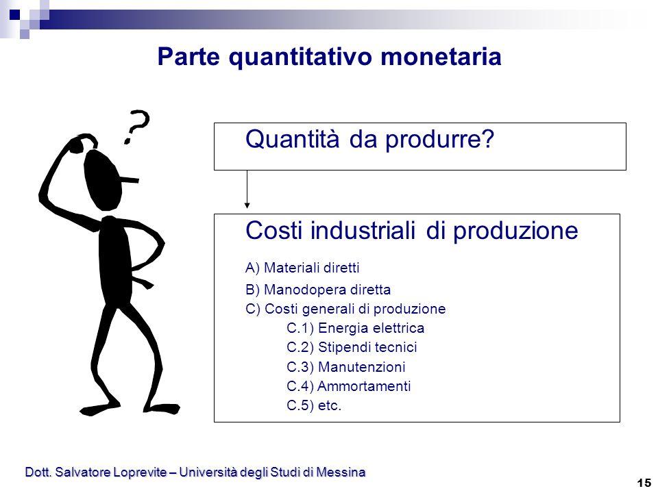 Parte quantitativo monetaria