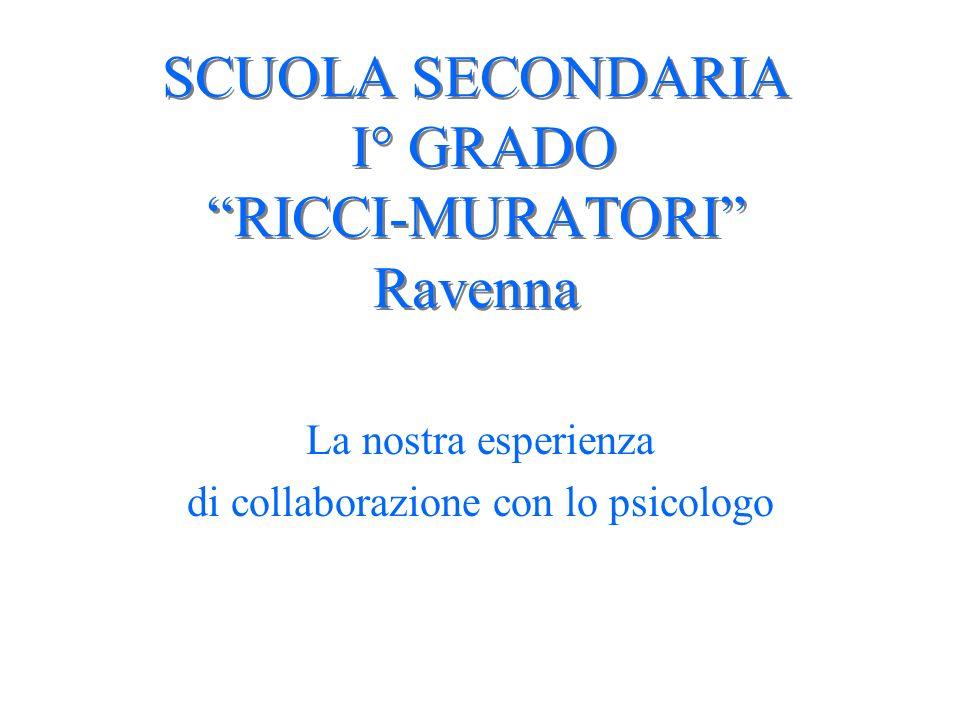 SCUOLA SECONDARIA I° GRADO RICCI-MURATORI Ravenna