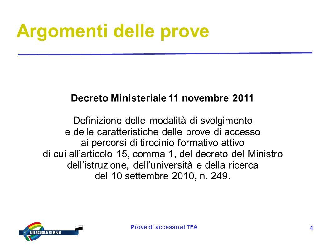 Decreto Ministeriale 11 novembre 2011