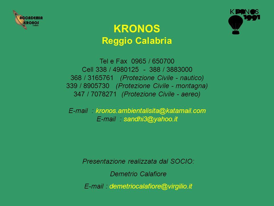 KRONOS Reggio Calabria Tel e Fax 0965 / 650700