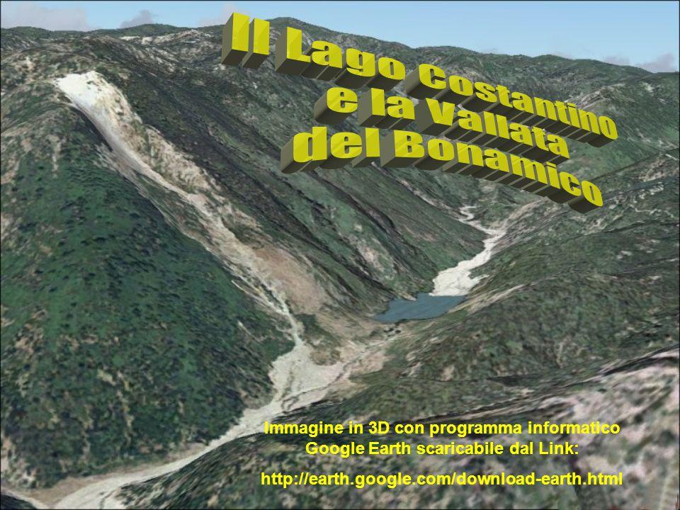 Il Lago Costantino e la Vallata del Bonamico