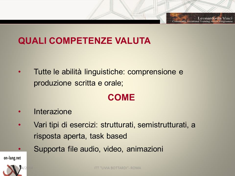 QUALI COMPETENZE VALUTA