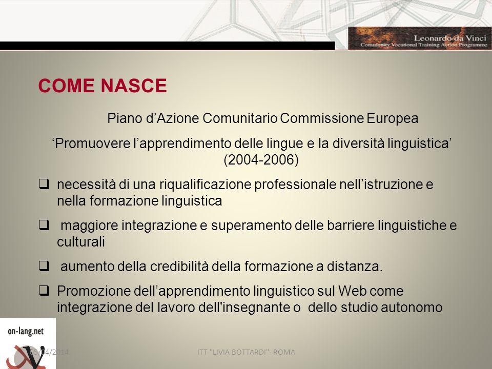 COME NASCE Piano d'Azione Comunitario Commissione Europea
