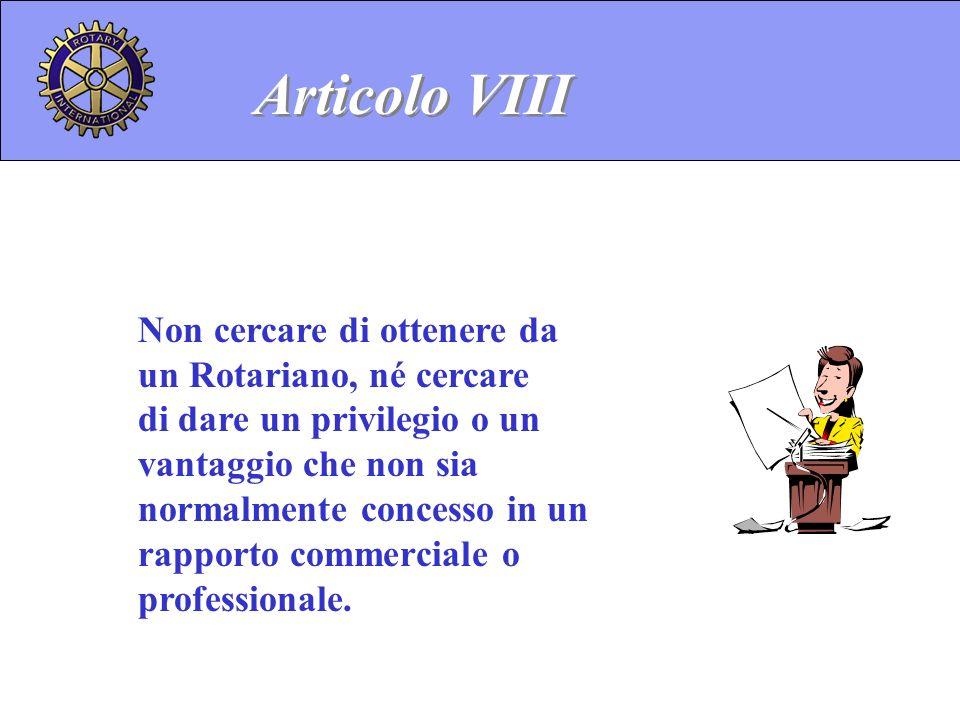Articolo VIII