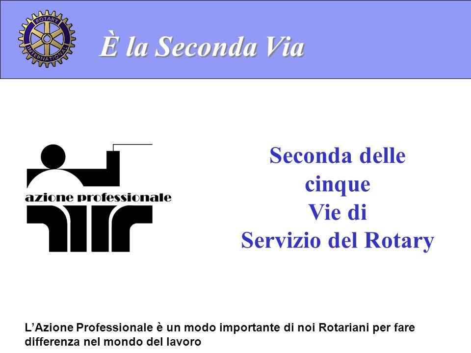 È la Seconda Via Seconda delle cinque Vie di Servizio del Rotary