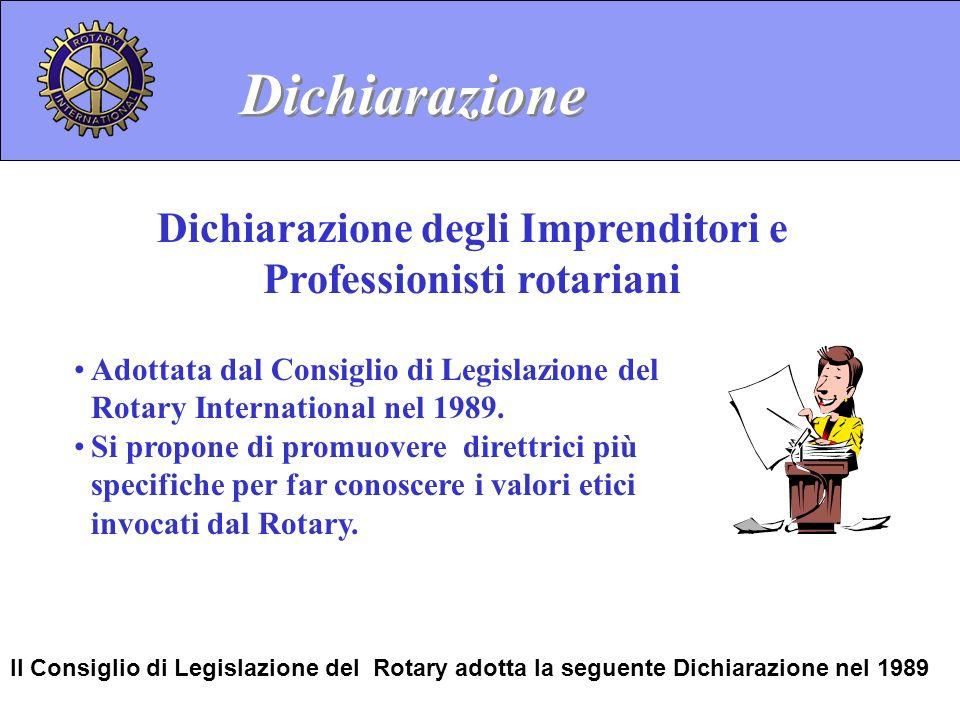 Dichiarazione degli Imprenditori e Professionisti rotariani