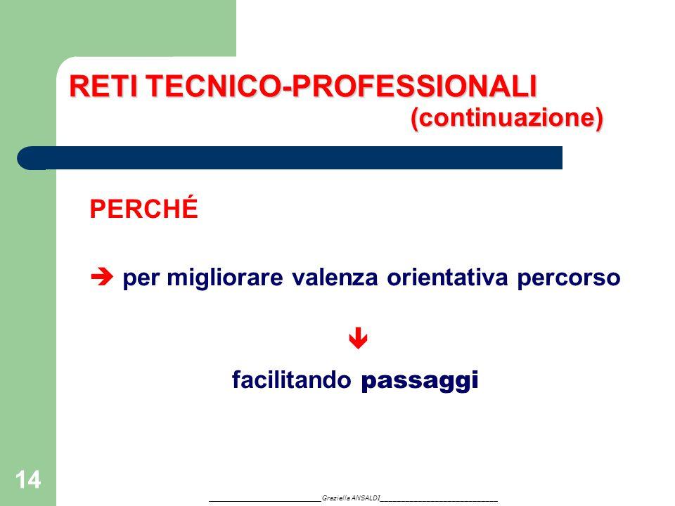 RETI TECNICO-PROFESSIONALI (continuazione)