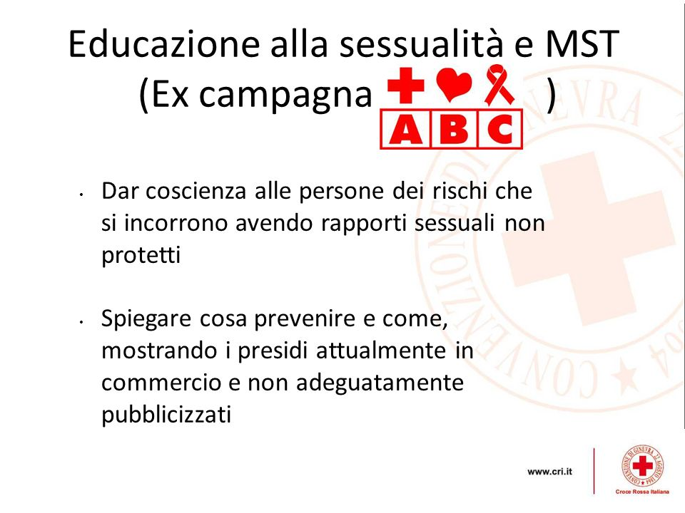 Educazione alla sessualità e MST (Ex campagna )