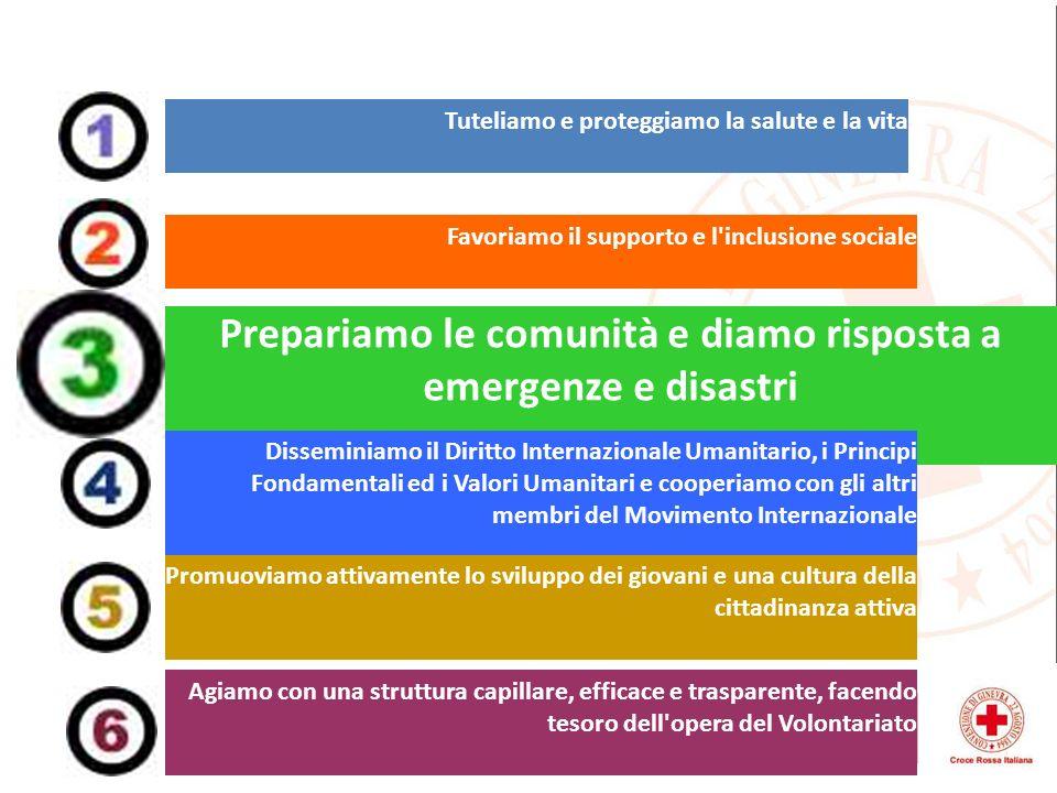 Prepariamo le comunità e diamo risposta a emergenze e disastri