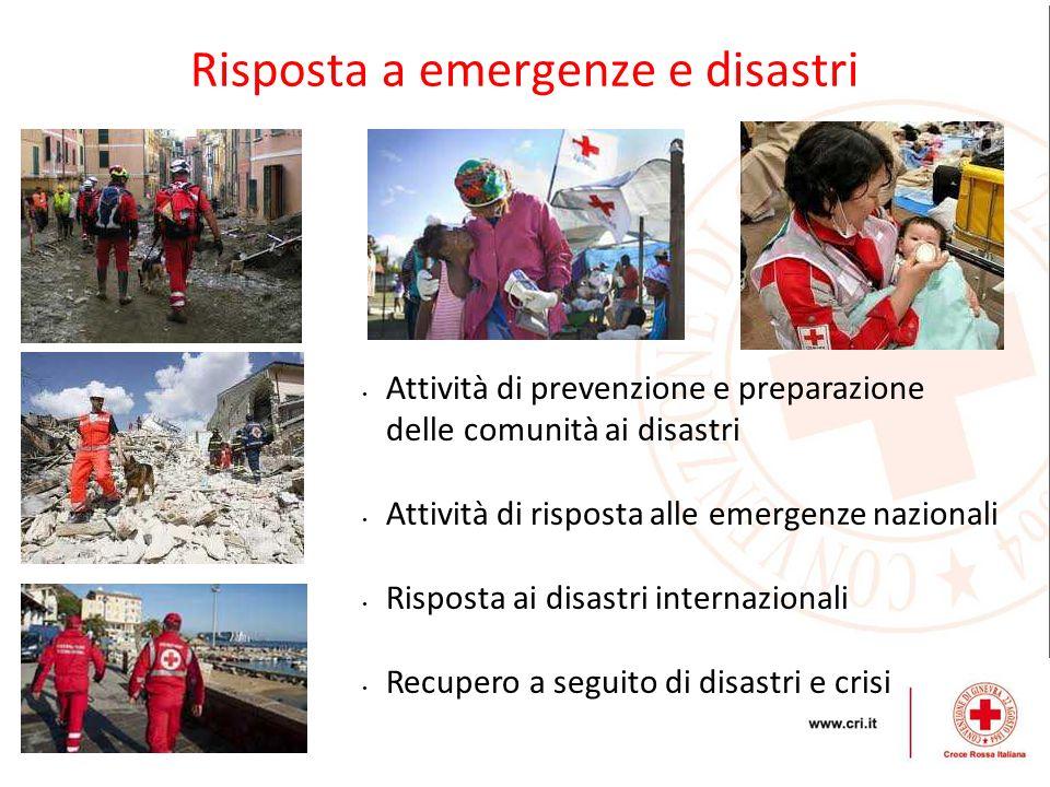 Risposta a emergenze e disastri