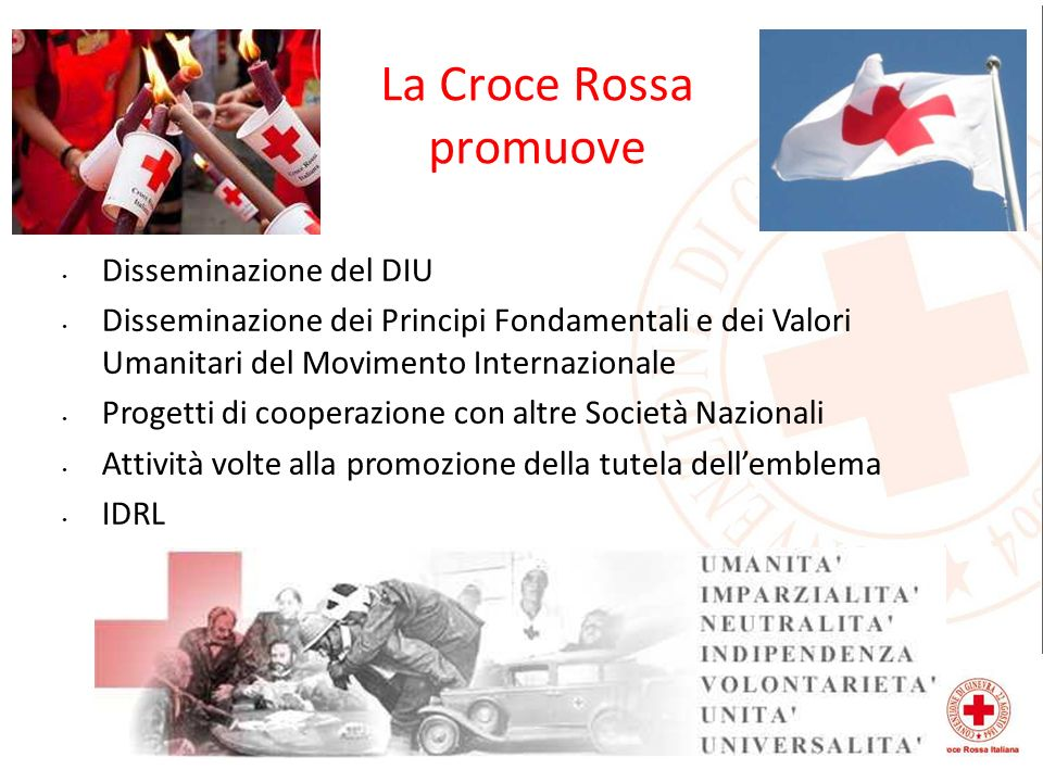 La Croce Rossa promuove