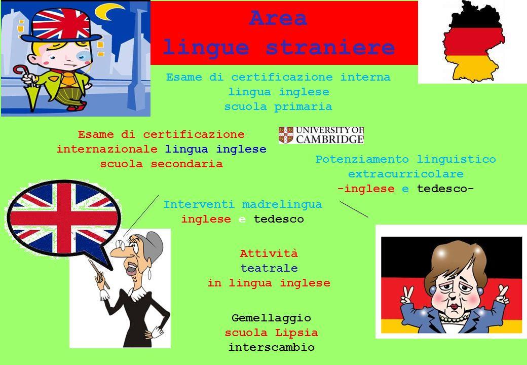 Area lingue straniere