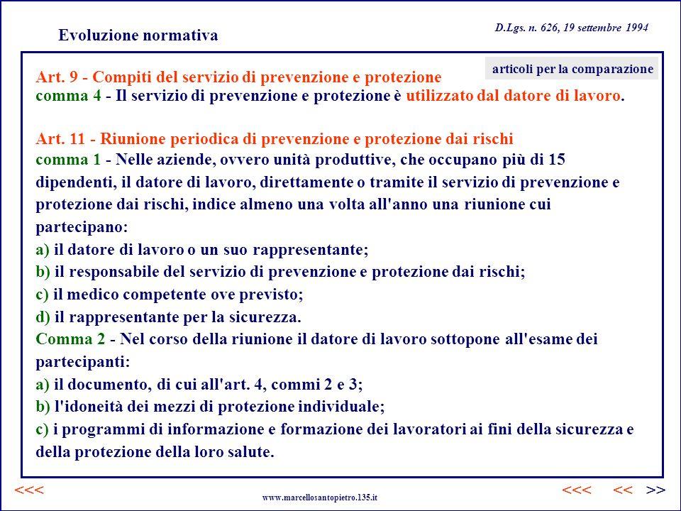 Art. 9 - Compiti del servizio di prevenzione e protezione