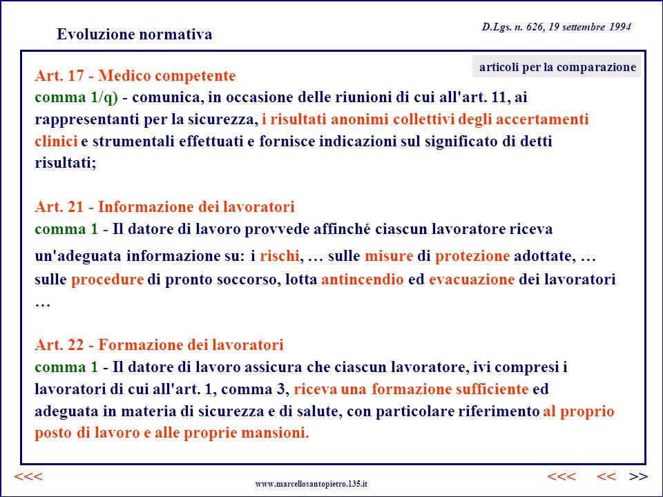 Art. 17 - Medico competente