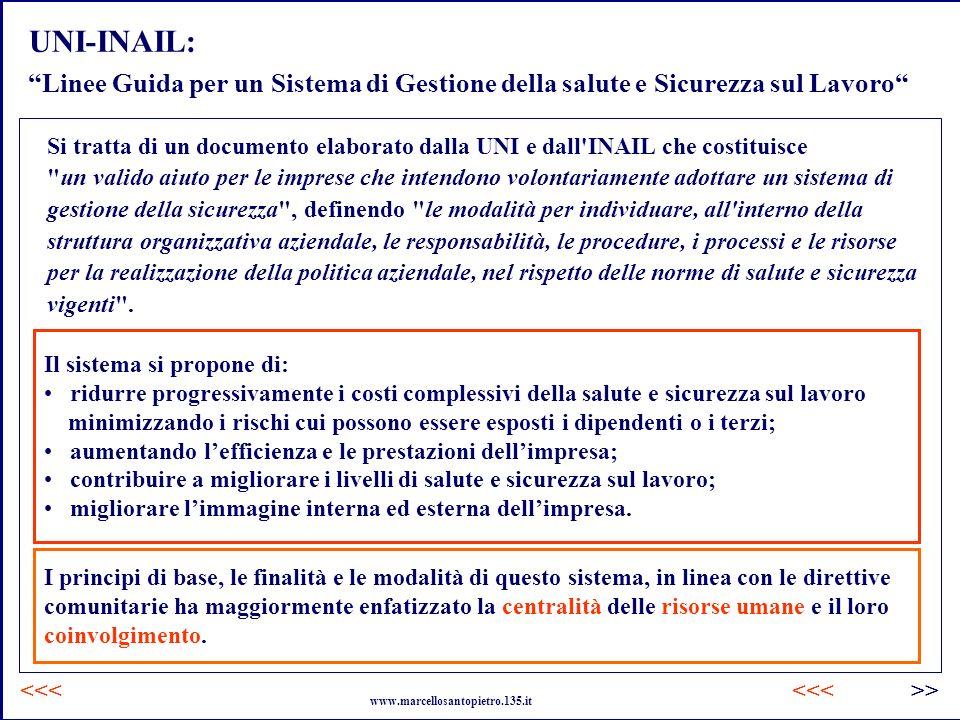 UNI-INAIL: Linee Guida per un Sistema di Gestione della salute e Sicurezza sul Lavoro