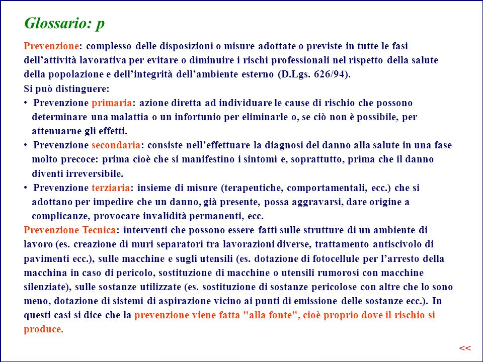 Glossario: p