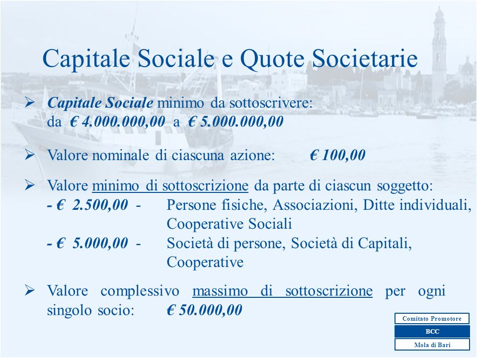Capitale Sociale e Quote Societarie