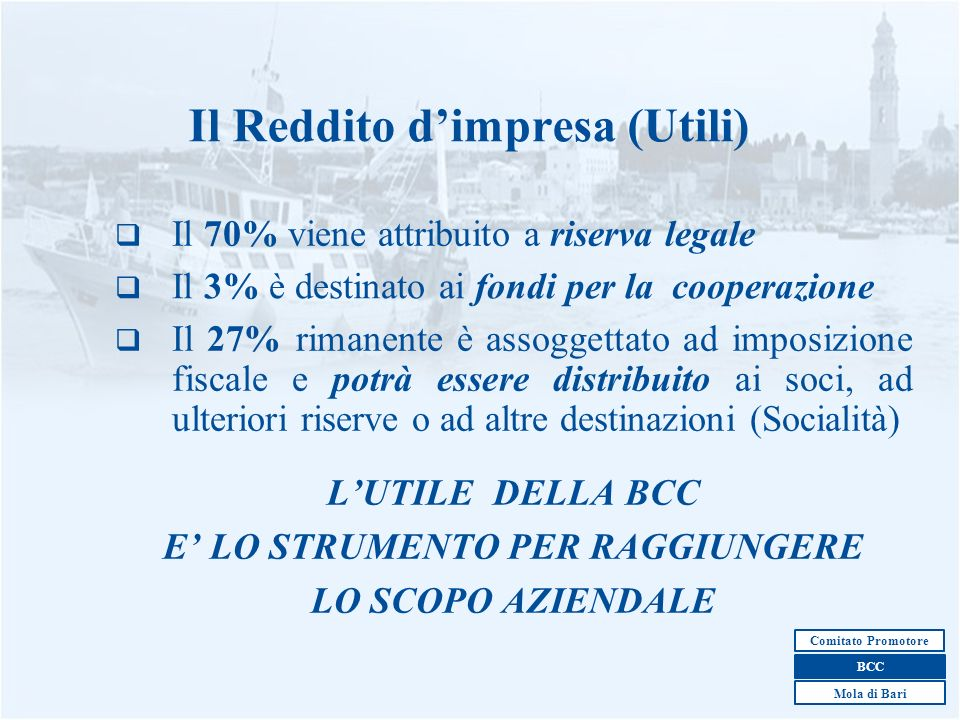 Il Reddito d'impresa (Utili)