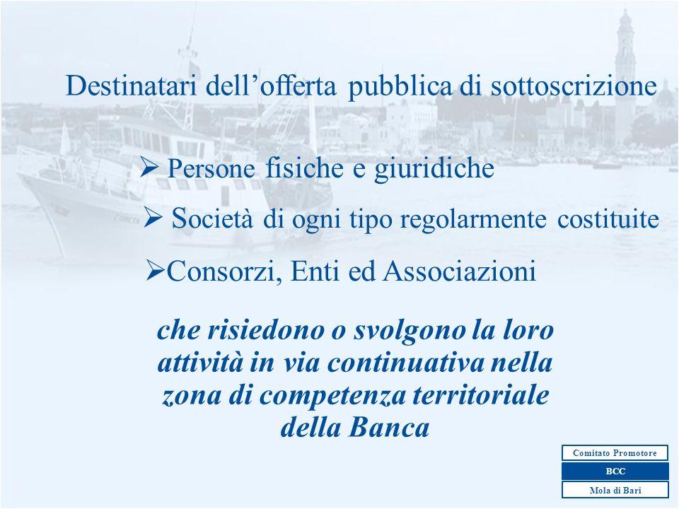 Destinatari dell'offerta pubblica di sottoscrizione