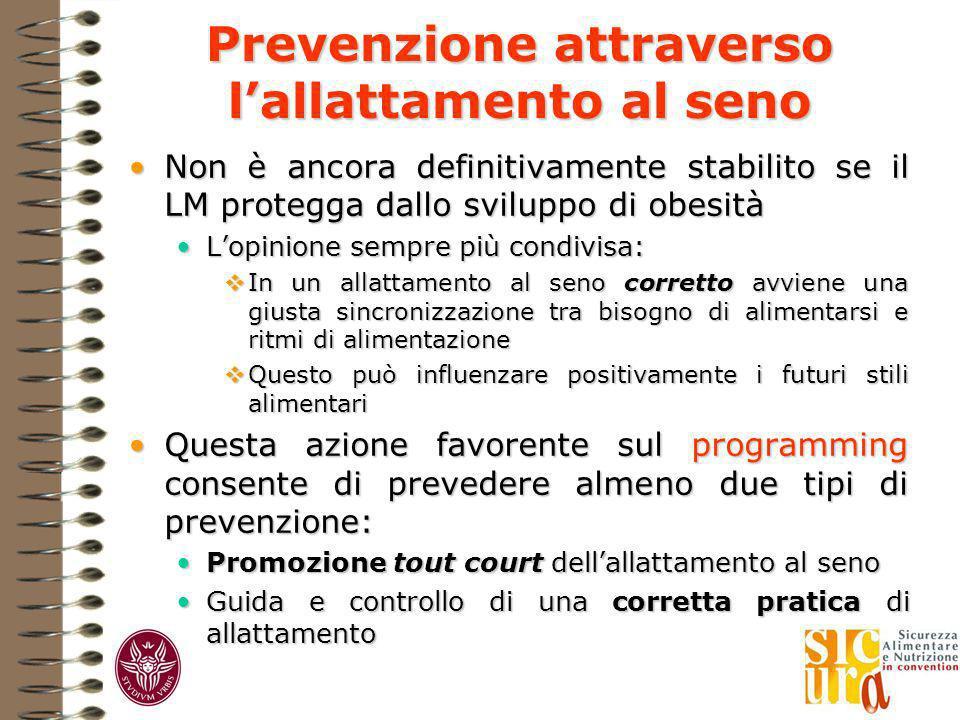 Prevenzione attraverso l'allattamento al seno