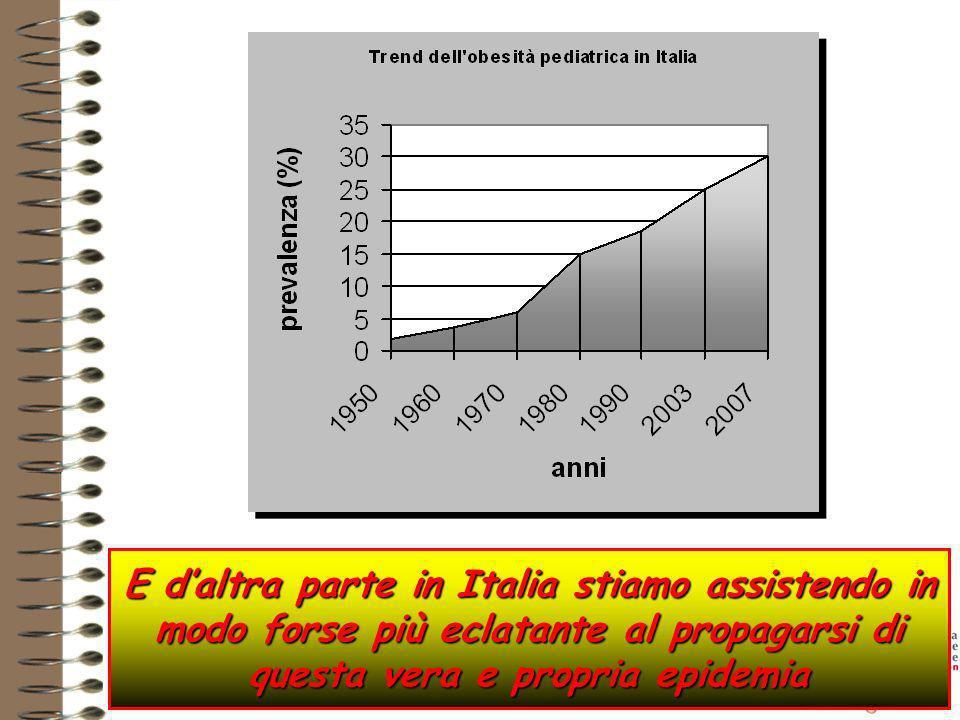 E d'altra parte in Italia stiamo assistendo in modo forse più eclatante al propagarsi di questa vera e propria epidemia