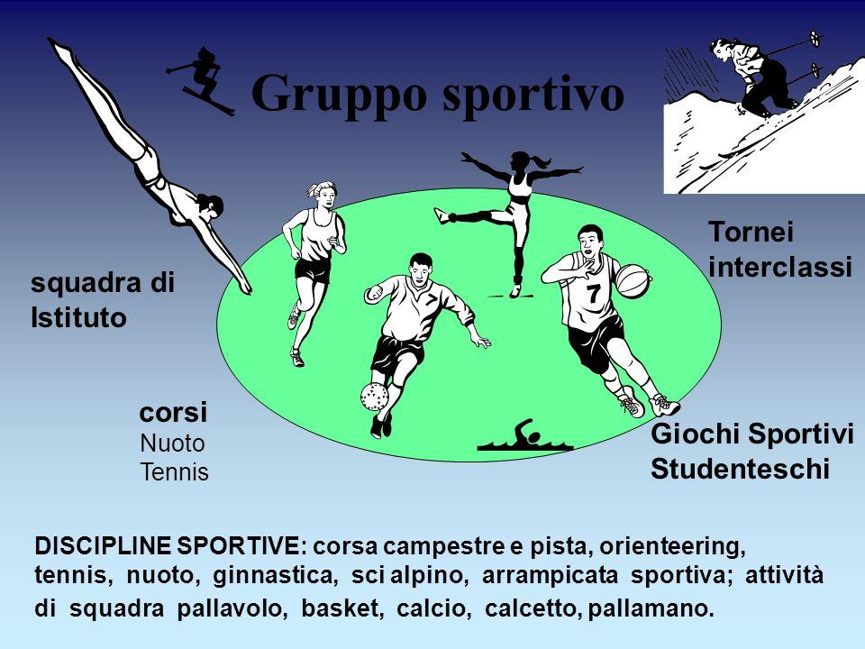 Gruppo sportivo  Tornei interclassi squadra di Istituto corsi