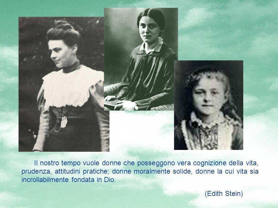 Il nostro tempo vuole donne che posseggono vera cognizione della vita, prudenza, attitudini pratiche; donne moralmente solide, donne la cui vita sia incrollabilmente fondata in Dio.