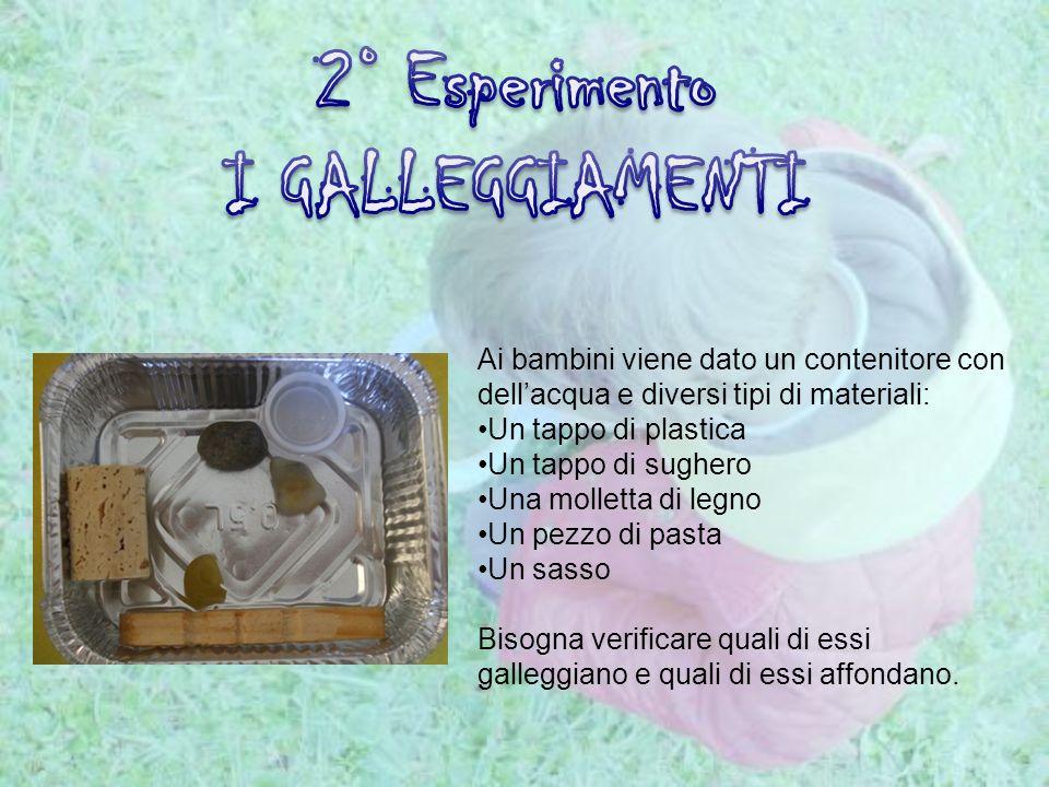 2° Esperimento I GALLEGGIAMENTI