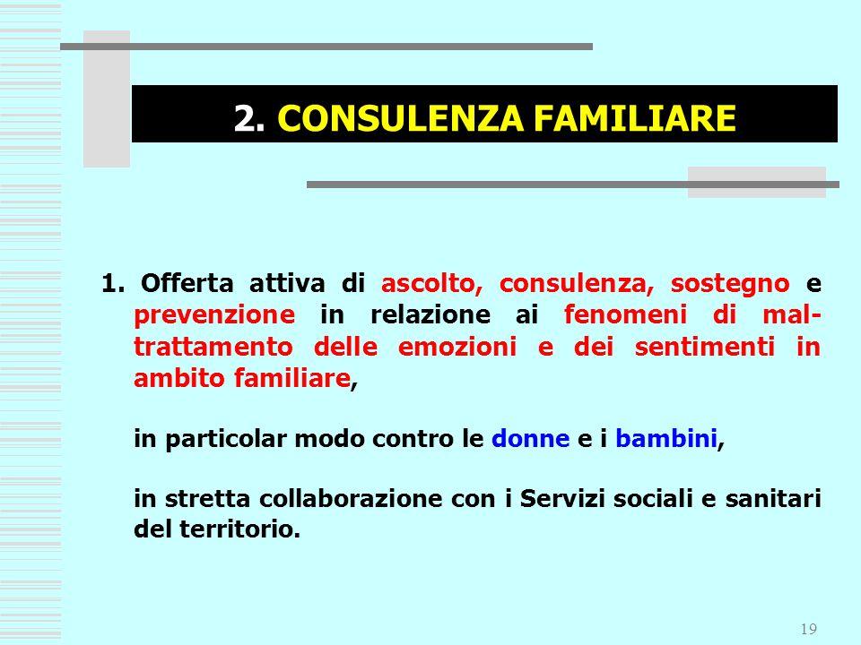 2. CONSULENZA FAMILIARE