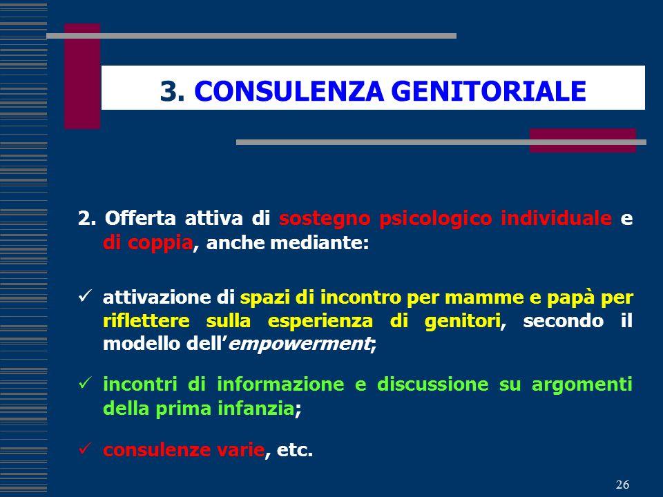 3. CONSULENZA GENITORIALE
