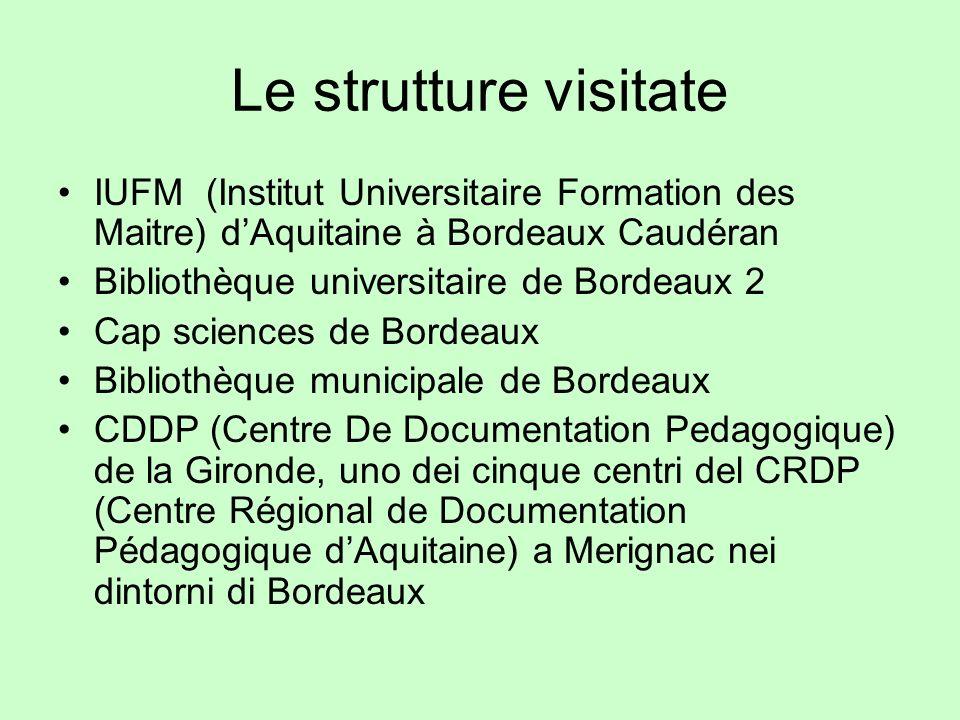 Le strutture visitateIUFM (Institut Universitaire Formation des Maitre) d'Aquitaine à Bordeaux Caudéran.